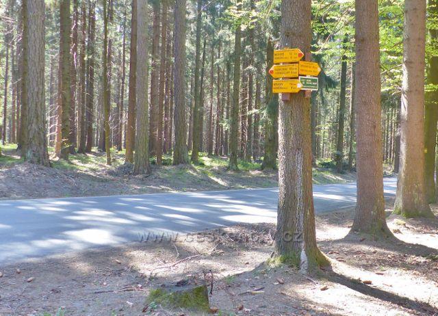 Cyklistický rozcestník Pod Předním kopcem