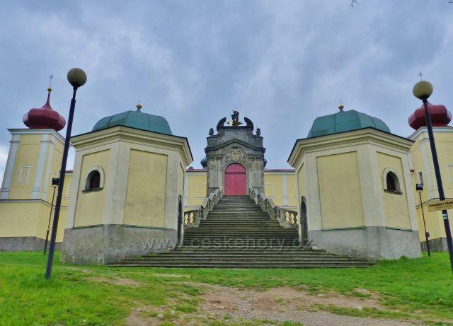 Vstupní portál kláštera Hora Matky Boží Hedeč