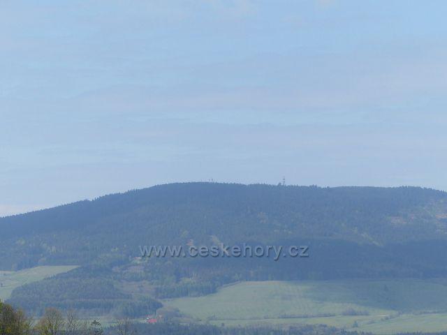 Pohled z Františkovy vyhlídky na Suchý vrch