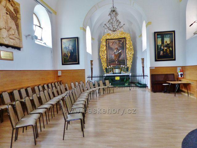 Žampach - interiér kaple sv. Bartoloměje
