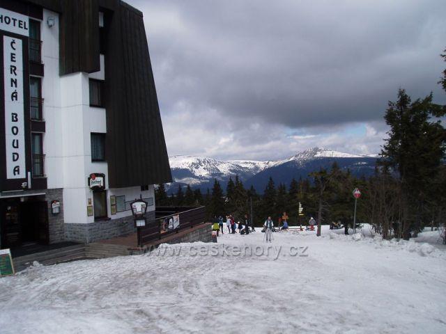Výhled od Černé boudy na Černé hoře