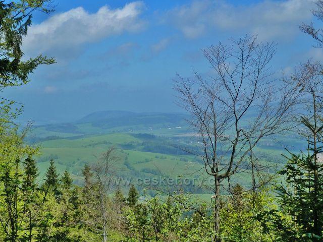 Pohled k vrchu Urwista na polském území