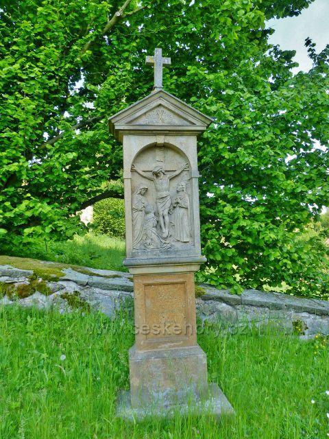 Hnátnice - X.zastavení  Křížové cesty kolem Kostela sv. Petra a Pavla