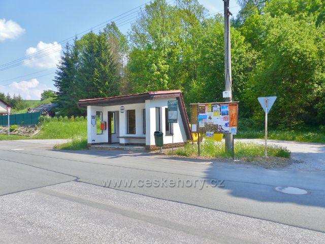 Autobusová zastávka Hnátnice,horní