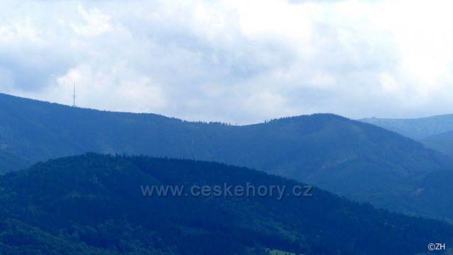 Praděd a Petrovy kameny z Bukovky