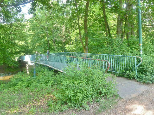 Potštejn - mostek pro pěší na trase po  zelené TZ přes Divokou Orlici