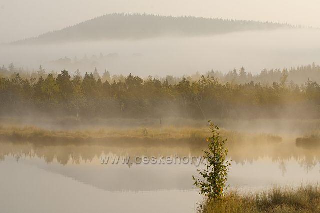 Zřejmě nejvíce navštěvované jezírko na Šumavě, Chalupská slať
