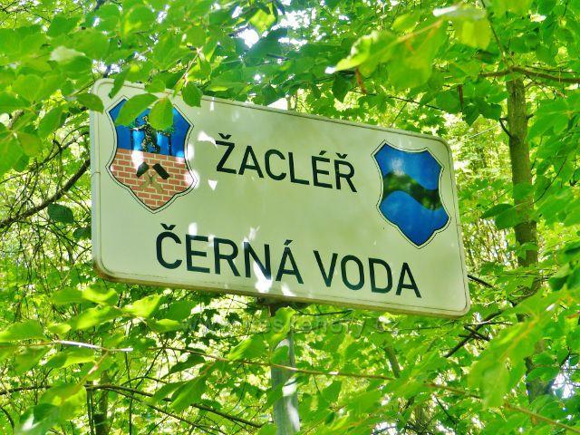 """Místní tabule Žacléř-Černá Voda pod chalupou""""Františka"""""""
