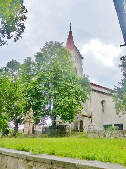 Bernartice - barokní kostel Nanebevzetí Panny Marie