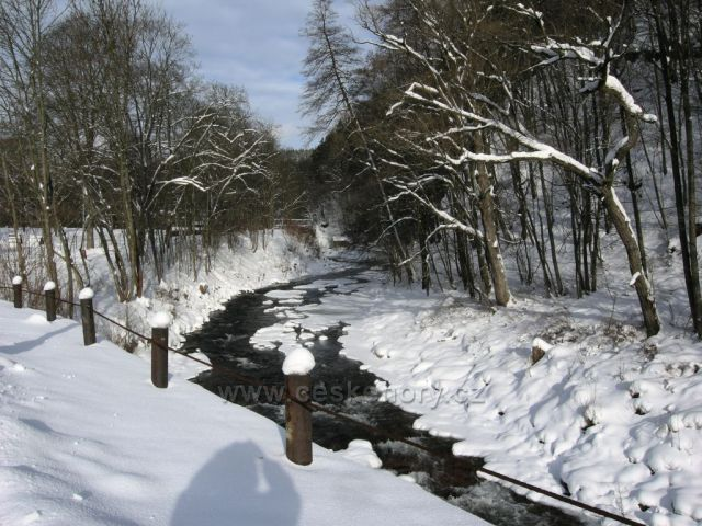 Úpa v zimě