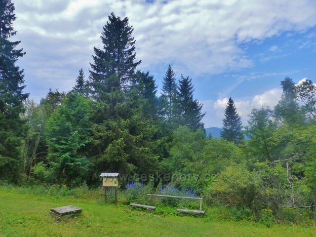 Rýchory - areál odpočinkového místa u Rýchorské studánky