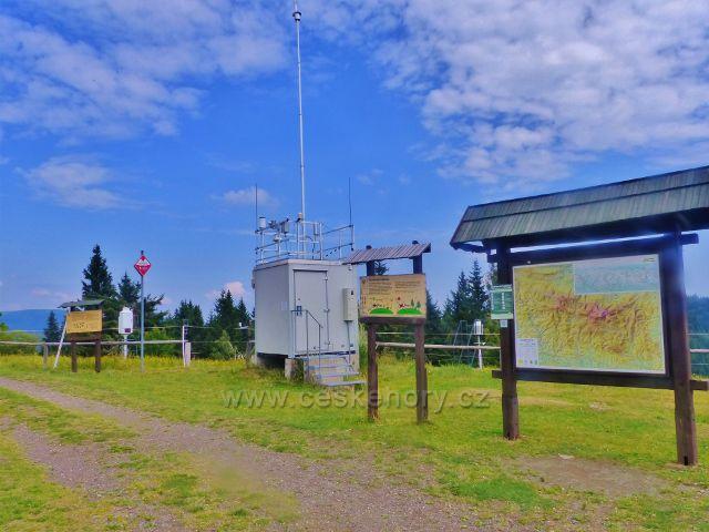 Rýchry - meteorologická stanice na vrcholu Kletné(1002 m.n.m.)