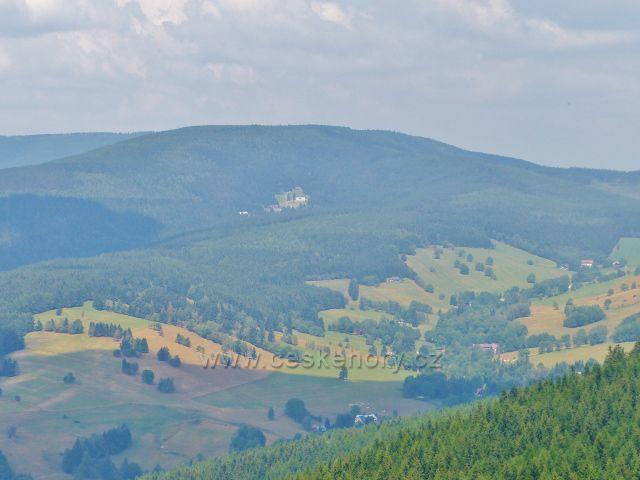 Rýchoéry - pohled z výhledového místa do Albeřického údolí