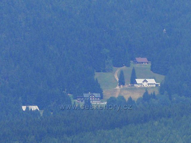 Rýchory - pohled z výhledového místa na Lysečinské boudy