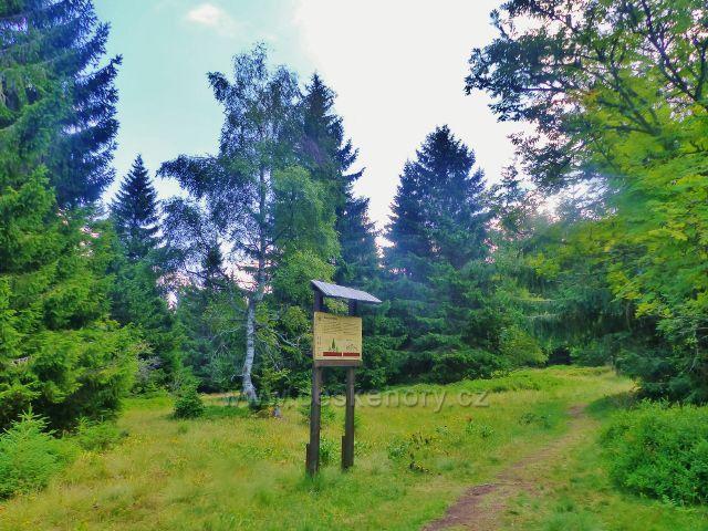 Rýchory - Dvorský les, panel na trase NS Rýchory Smrkové rodinky