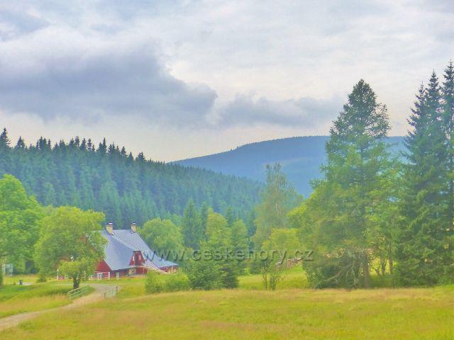 Horní Malá Úpa - pohled z cesty pod chatou Třezalka do údolí Za větrem