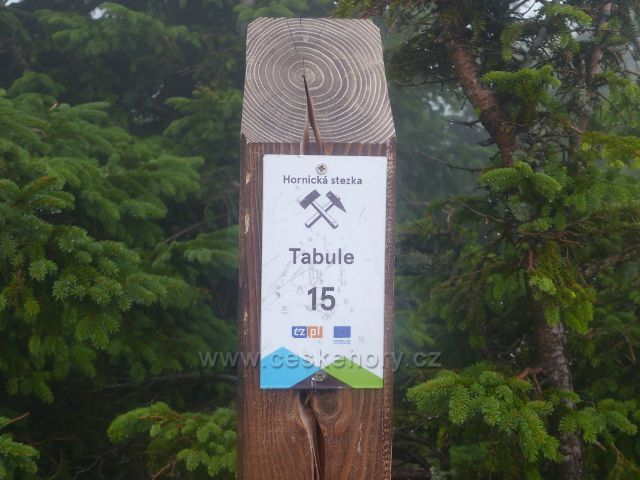Horní Malá Úpa - Tabulka 15.zastavení Hornické stezky - Tabule