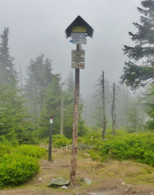 Horní Malá Úpa - bod záchrany TK 882 na vrcholku Tabule