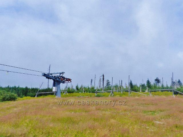 Horní Malá Úpa - konec lyžařského vleku skiareálu Pomezní boudy