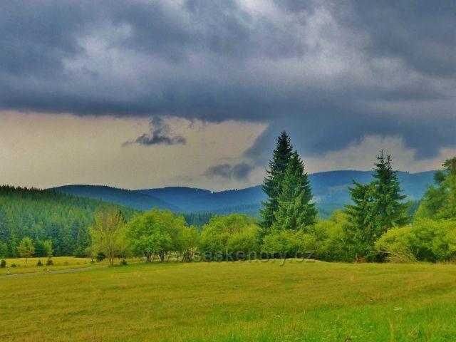Horní Malá Úpa - pohled na okolní pastviny