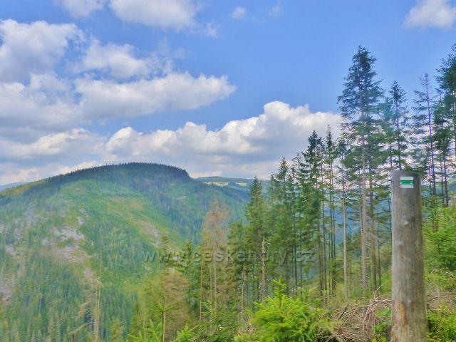 Horní Maršov - pohled z Emminy cesty na protilehlý vrch