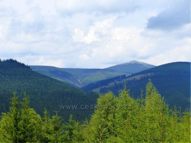 Horní Maršov - otevřený výhled z Emminy cesty ke Sněžce