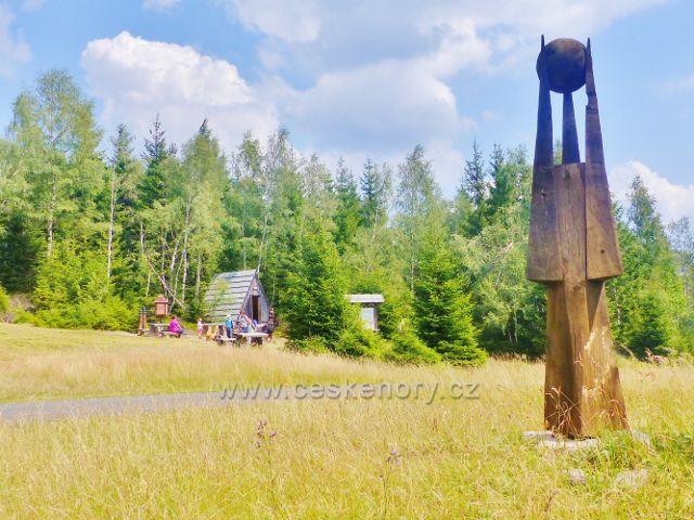 Horní Maršov - odpočinkové místo na rozcestí Cestník