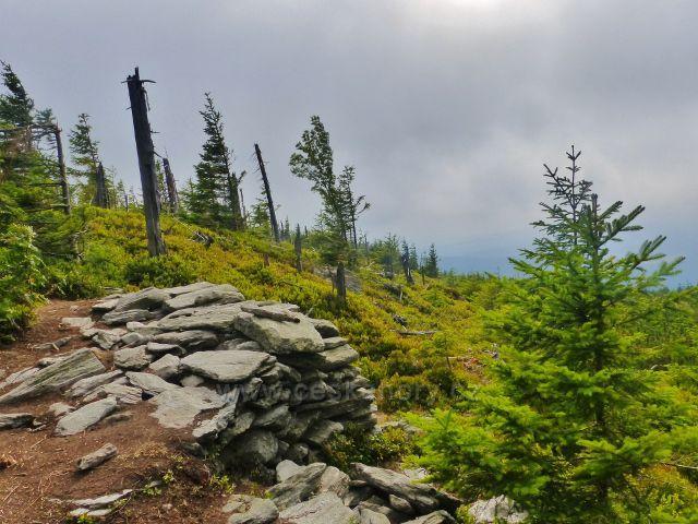 Malá Úpa - dočasné výhledové místo na Pomezním hřebenu nad Horní Malou Úpou