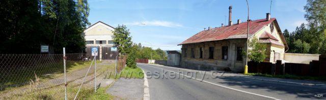 Bývalé depo pro nákladní tramvaje u pivovar (také bývalého)