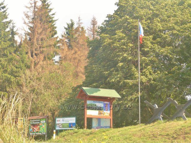 Žacléř - poutače na okraji areálu dělostřelecké tvrze Stachelberg
