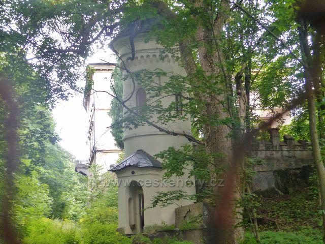 Žacléř - nepřístupný areál žacléřského zámku