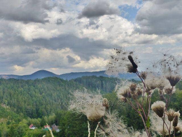 Žacléř - pohled ze silničky ke Stachelbergu na Královecký Špičák