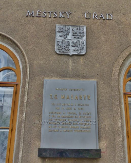 Semily - pamětní deska T.G.M. na budově staré radnice