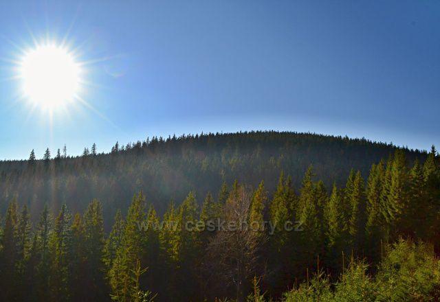 Výhledy na Temnou horu, Jeseníky.