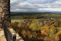 Výhledy z hradu Andělská Hora