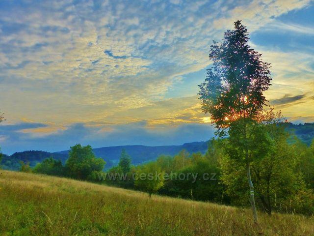 Západ slunce nad Líšným