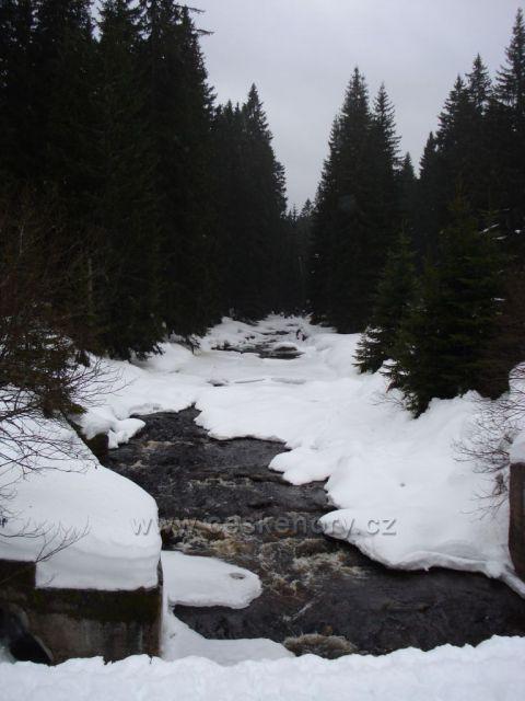 Modravský potok, most, nad Modravou, Šumava