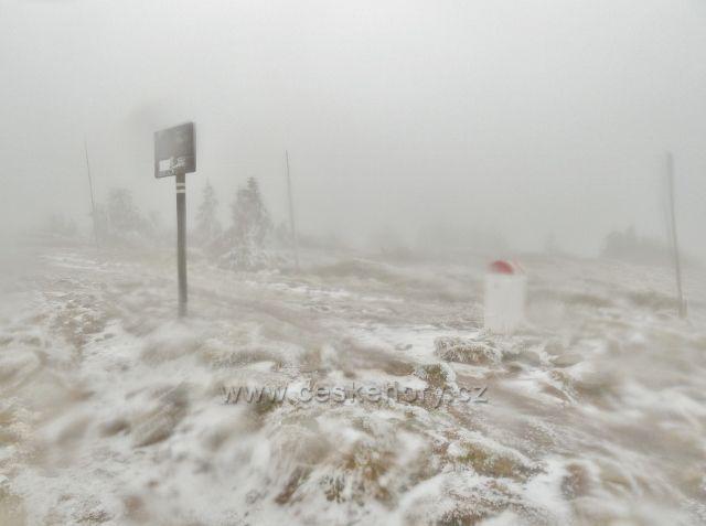 Státní hranice CZ/PL pod vrcholem Králického Sněžníku