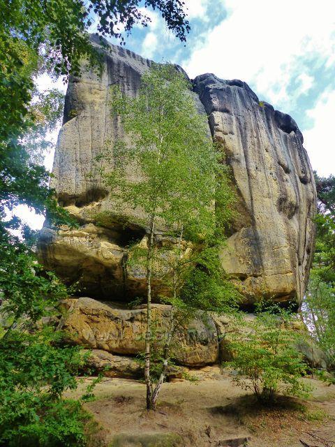 Klokočí - skalní věž Orlí hnízdo