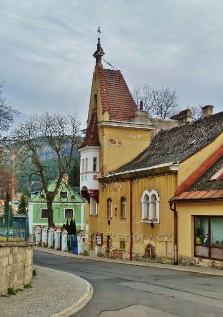 Jeseník - vila Alexandra Nietscheho st. na nábřeží Staříče