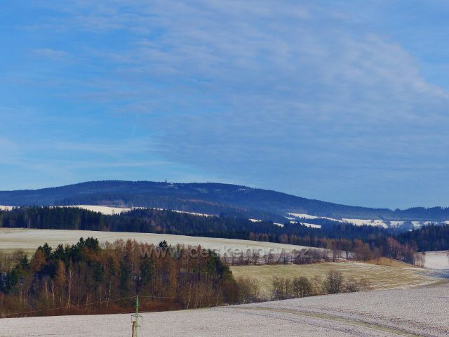 Pohled na masiv Suchého vrchu (995 m.n.m.)