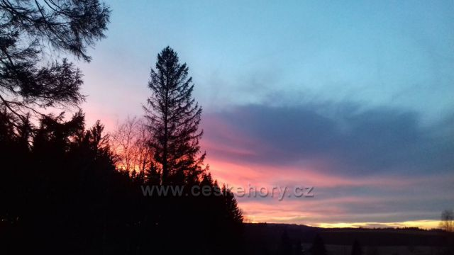 Západ slunce na Oklici