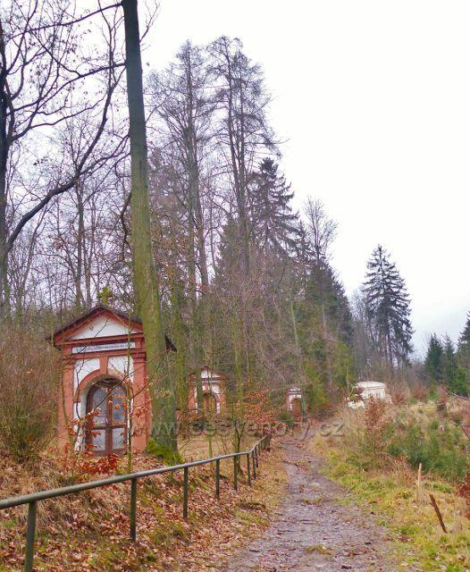 Malé Svatoňovice - stezka po modré TZ podél kapliček v Mariánském Sadu