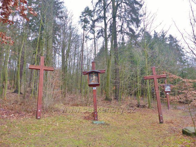 Malé Svatoňovice - křížová cesta v Mariánském Sadu končí nad kapličkou Božího Hrobu