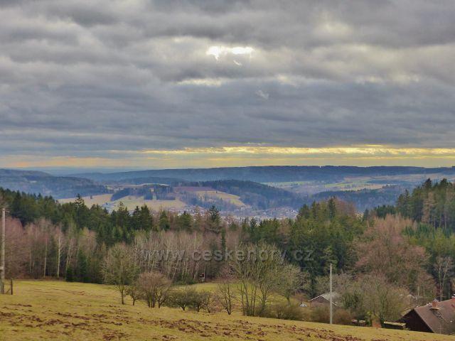 Malé Svatoňovice - pohled z enklávy Na Horách k Velkým Svatoňovicím
