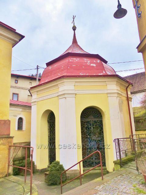 Malé Svatoňovice -kaple se studánkou u kostela Panny Marie Sedmiradostné