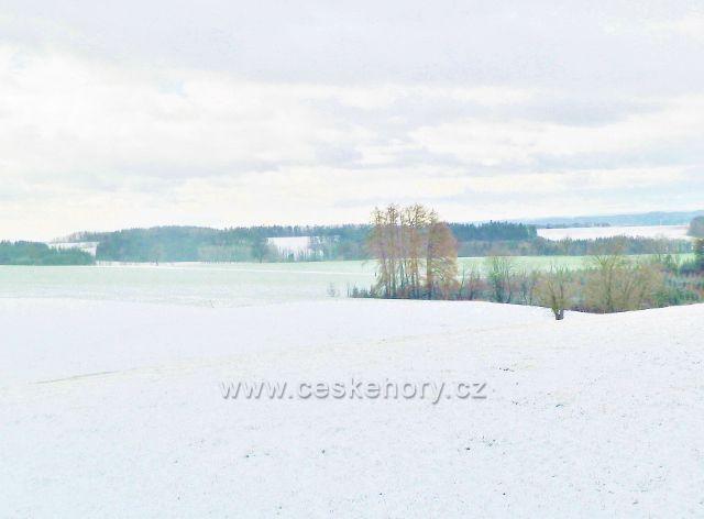 Kunvald - zasněžené podhůří