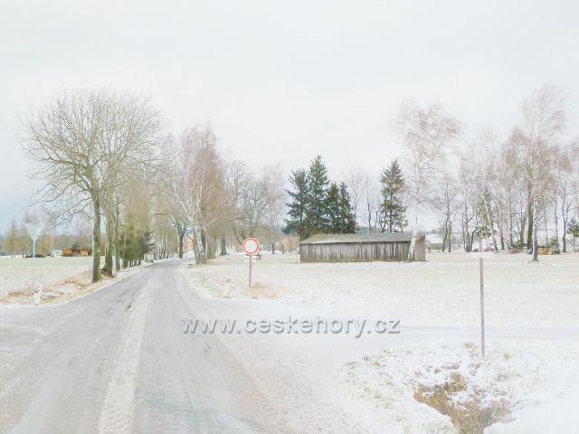 Kunvald - Končiny, silnice k Zaječinám