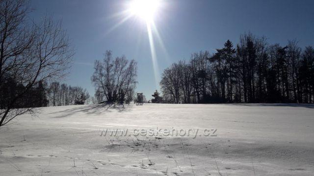 Slunce a sníh na Vysočině.