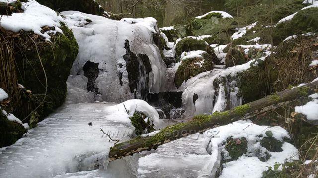 "Zamrzlý ""Vodopád zamilovaných""."